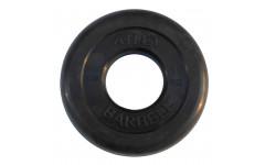 Диск обрезиненный, чёрного цвета, 51 мм, 1,25 кг  Atlet