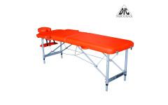 Массажный стол DFC NIRVANA, Elegant, 186х60х4 см, алюм. ножки, цвет оранжевый (Orange)