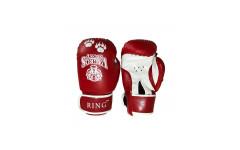 Перчатки боксерские VagroSport RING RS912, 12 унций, красный