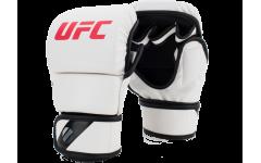 Перчатки MMA для спарринга 8 унций (Белые L/XL) UFC