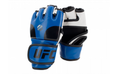 Перчатки MMA тренировочные с открытой ладонью (Синие L/XL) UFC