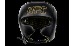 Шлем с защитой щек на шнуровке UFC (Черный - L)